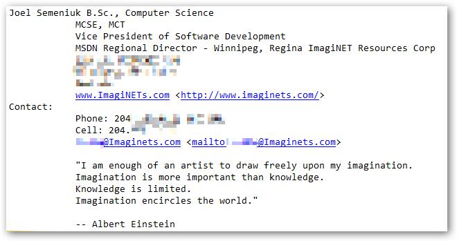 Email Signature Etiquette Too Much Flair Scott Hanselman