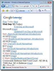 calendar - Windows Internet Explorer