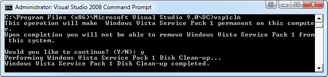 windows vista disk space