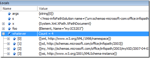 Get namespaces from an XML Document with XPathDocument and
