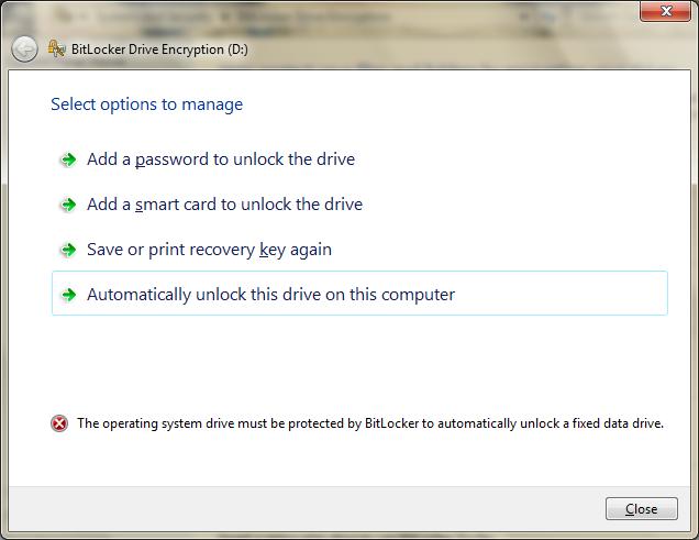 Windows 7 with BitLocker and Still Booting To VHD - Scott Hanselman