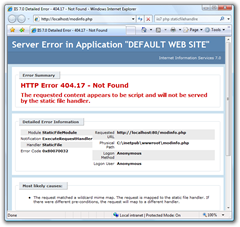 IIS 7.0 Detailed Error - 404.17 - Not Found - Windows Internet Explorer