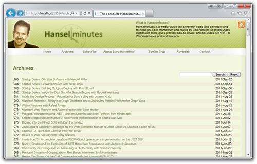 The complete Hanselminutes podcast archive - step 2