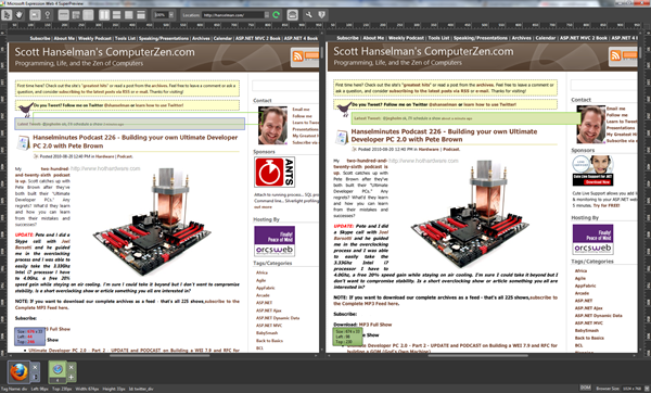 Windows FireFox 3.6 (on the left) and Safari 4 Mac (on the right)