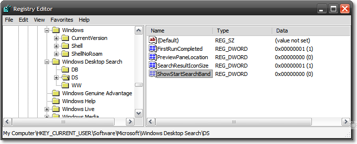 office 2007 key location registry