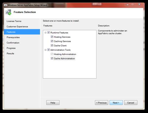 Windows Server AppFabric Setup Wizard