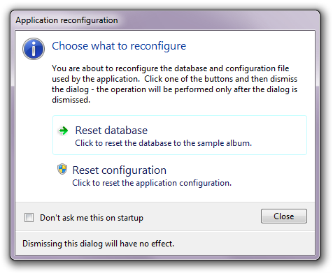 Application reconfiguration