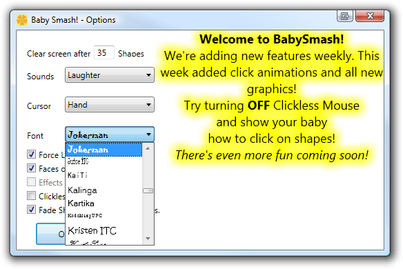 Learning WPF with BabySmash - Customer Feedback and a WPF Font
