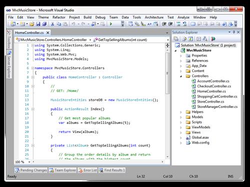 MvcMusicStore - Microsoft Visual Studio (2)