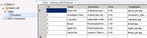 Database Editing in WebMatrix