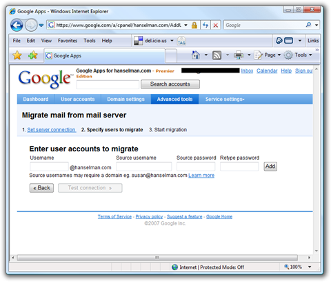 Google Apps - Windows Internet Explorer