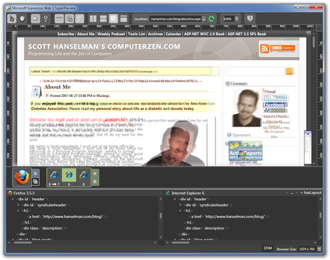 Microsoft Expression Web 3 SuperPreview (2)