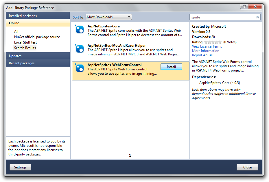 NuGet Package of the Week #1 - ASP NET Sprite and Image Optimization