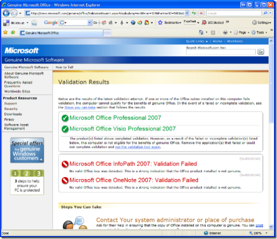 activate product key microsoft office 2007
