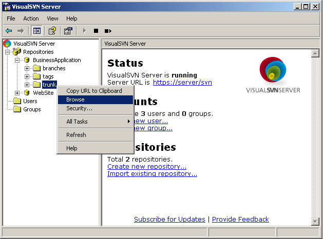 best free svn server for windows