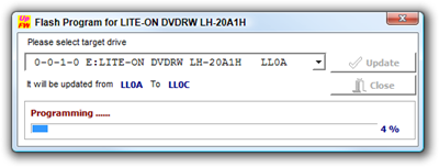 Flash Program for LITE-ON DVDRW LH-20A1H