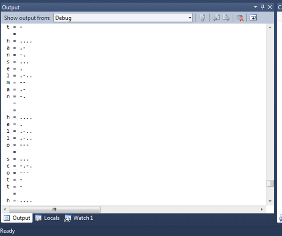 Debug Output from the Netduino Board