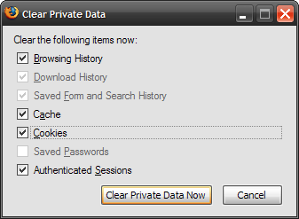 Clear Private Data (2)