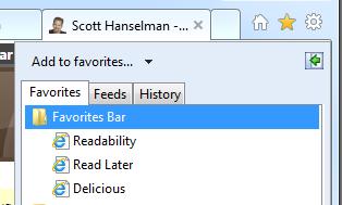 The Favorites Sidebar