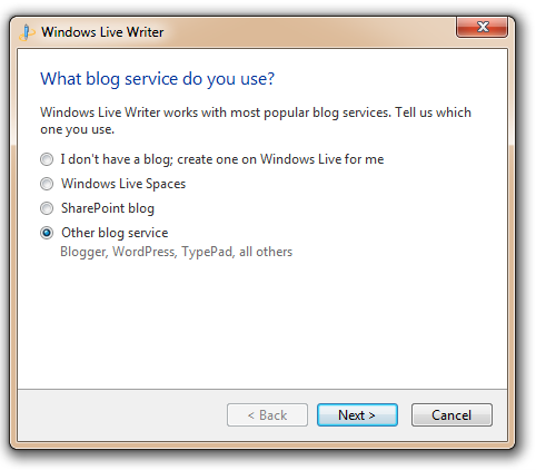 What kind of Blog Services