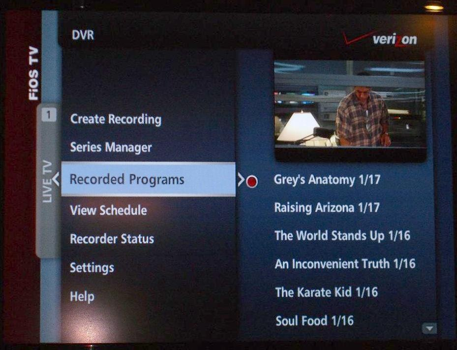 Verizon FIOS TV - Review and Photo Gallery - Scott Hanselman