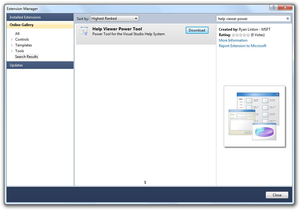 Visual Studio 2010 - Help Viewer Power Tool BETA - Help