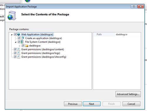 Deploying DasBlog from IIS using WebDeploy