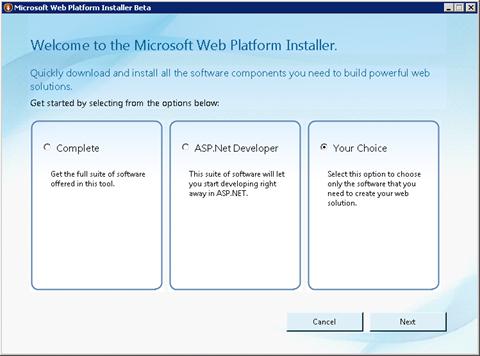 Microsoft Web Platform Installer