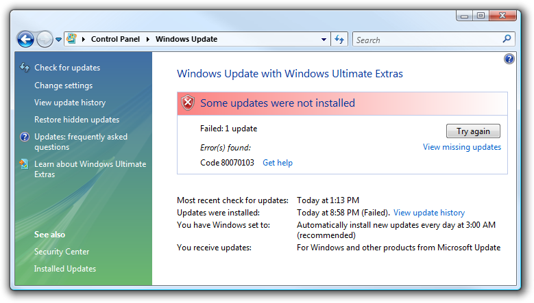 Windows Update should hide HResults - Scott Hanselman