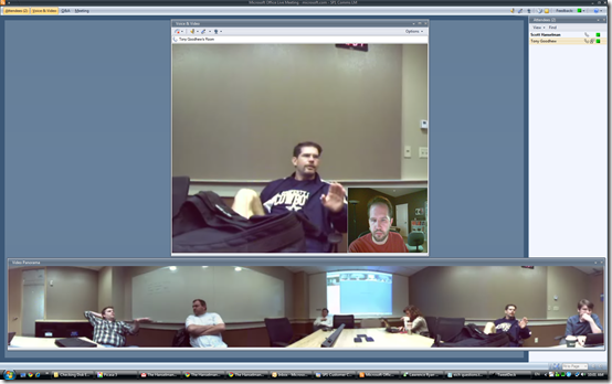 LiveMeeting with a Panorama view