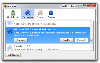 How to Remove the  NET ClickOnce Firefox Extension - Scott Hanselman