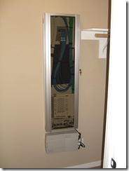 My new wiring closet door, closed