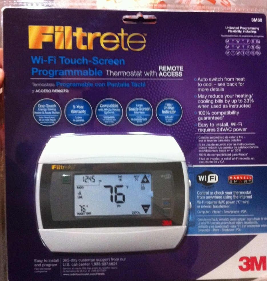 Installing the Filtrete Thermostat, complete Installing the Filtrete  Thermostat, in the box