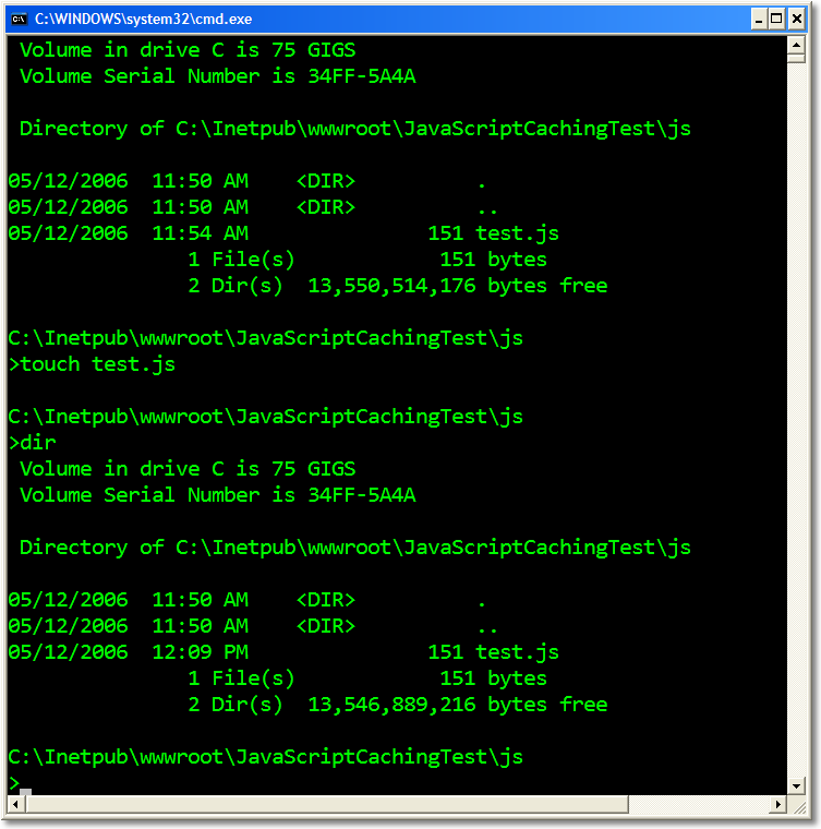 Forcing an update of a cached JavaScript file in IIS - Scott Hanselman